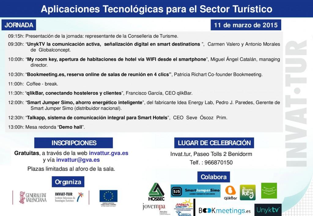 Jornada Aplicaciones Tecnologicas para el Sector Turistico